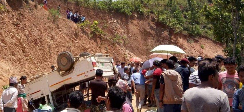 रामेछापमा जीप दुर्घटना हुँदा चालक सहित ३ जनाको मृत्यु