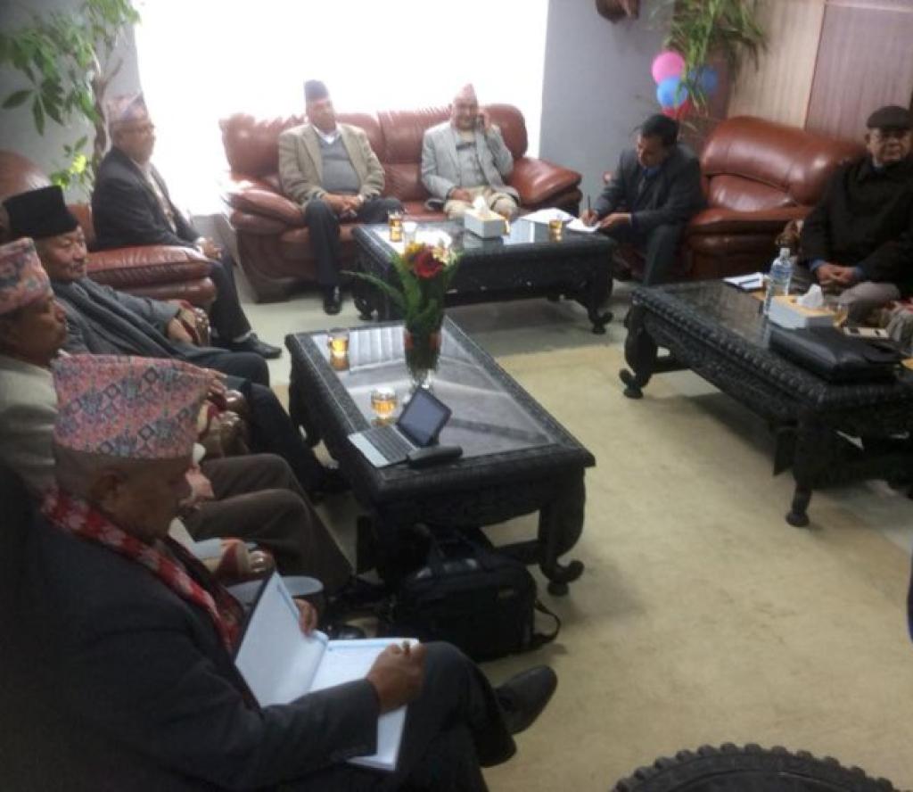 एमाले-माअोवादी एकता संयोजन समितिको बैठक सकियो