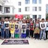 इन्टरनेट सेवा शुल्क घटाउन माग गर्दै नेविसंघद्वारा प्रदर्शन