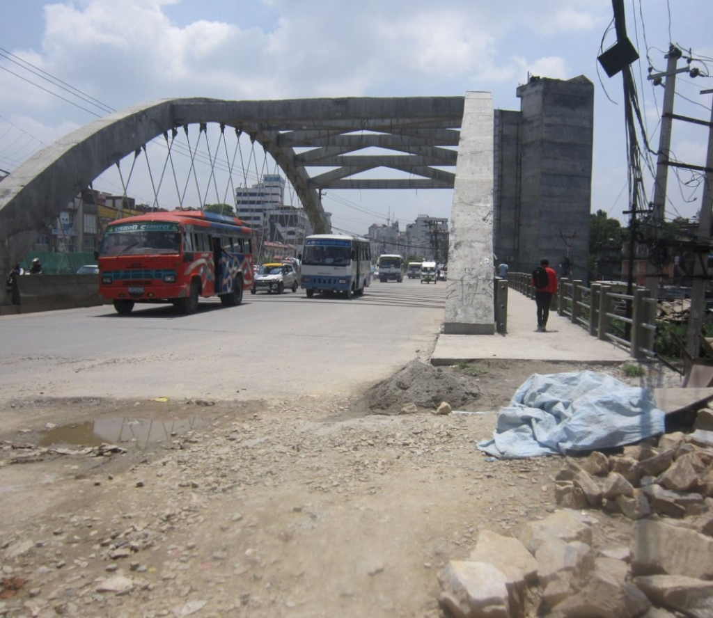 नेपालकै पहिलो 'नेटवर्क आर्क पुल'को निर्माण अन्तिम चरणमा