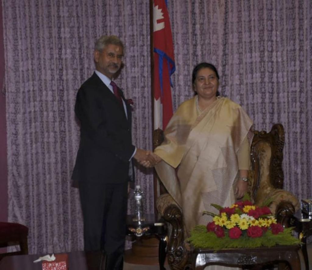 राष्ट्रपति र भारतीय विदेशमन्त्रीबीच भेटवार्ता