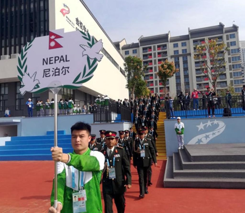 विश्व सैनिक गृष्मकालीन खेलकूद प्रतियोगिताको झण्डोत्तोलन