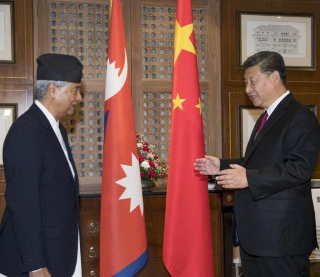 चिनियाँ राष्ट्रपति सी र सभापति देउवाकाे  भेटवार्ता, 'सी नेपाली काँग्रेससँग पनि सहकार्य गर्न इच्छुक '