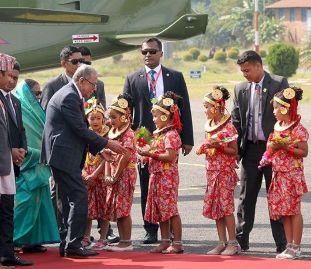 राष्ट्रपति हमिदको पोखरामा यसरी स्वागत गरियो