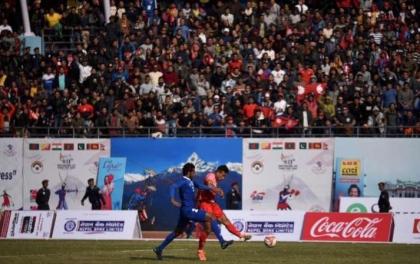 साग पुरुष फुटबल : नेपालद्वारा माल्दिभ्स २–१ गोलले पराजित
