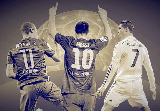Messi, ronaldo,neymar