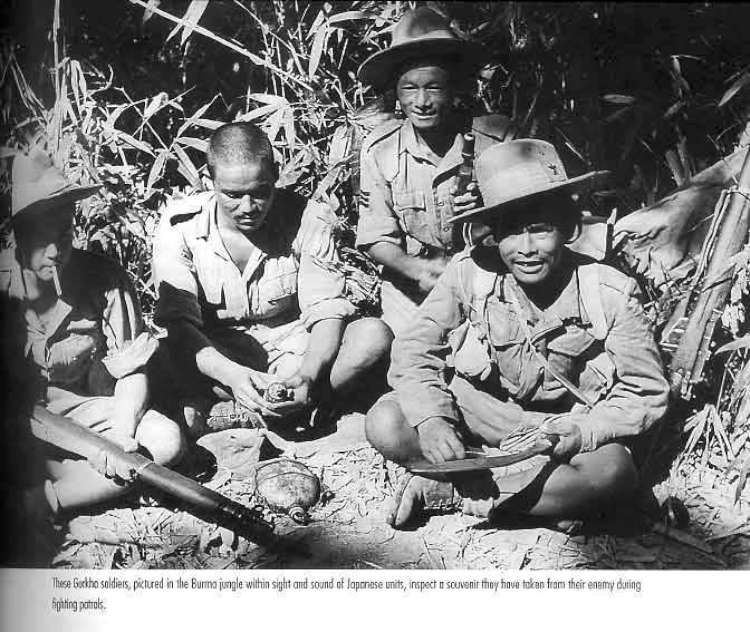 बर्माको जंगलमा गोर्खाली सेनाहरु
