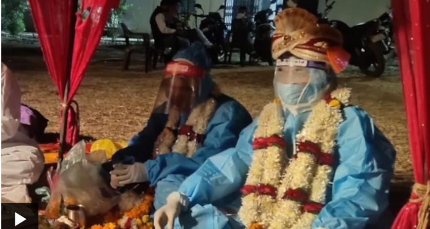 विवाहको केही घण्टा अगाडि दुलहीलाई कोरोना पुष्टि, पिपिइ लगाएर विवाह सम्पन्न