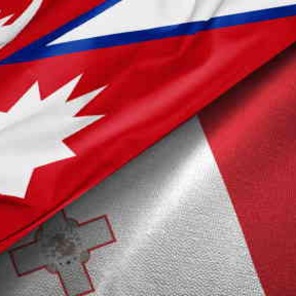 Nepal-Malta-flags