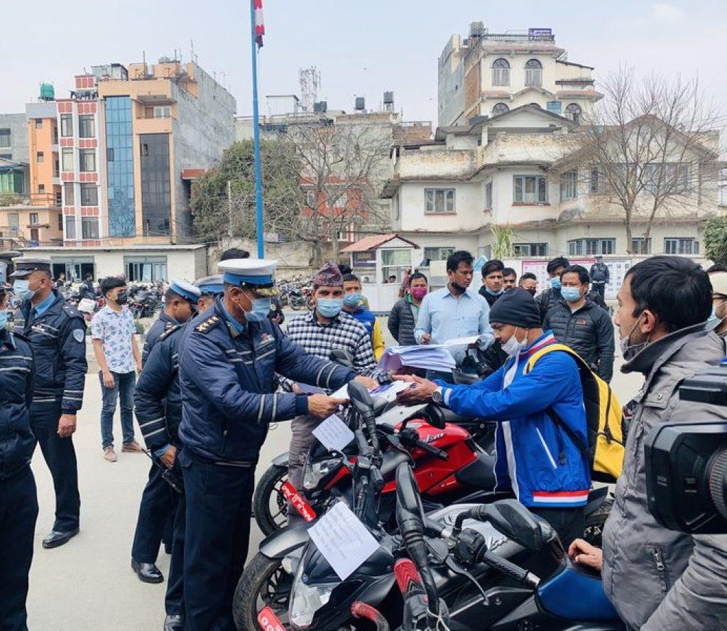 """""""काठमाडौँ ट्राफिकको सफलता : दुई हप्तामै चोरिएका २७ मोटरसाईकल बरामद"""""""