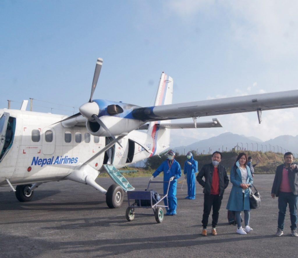 सात महिनापछि नेपाल एयरलाइन्सको ताप्लेजुङ उडान