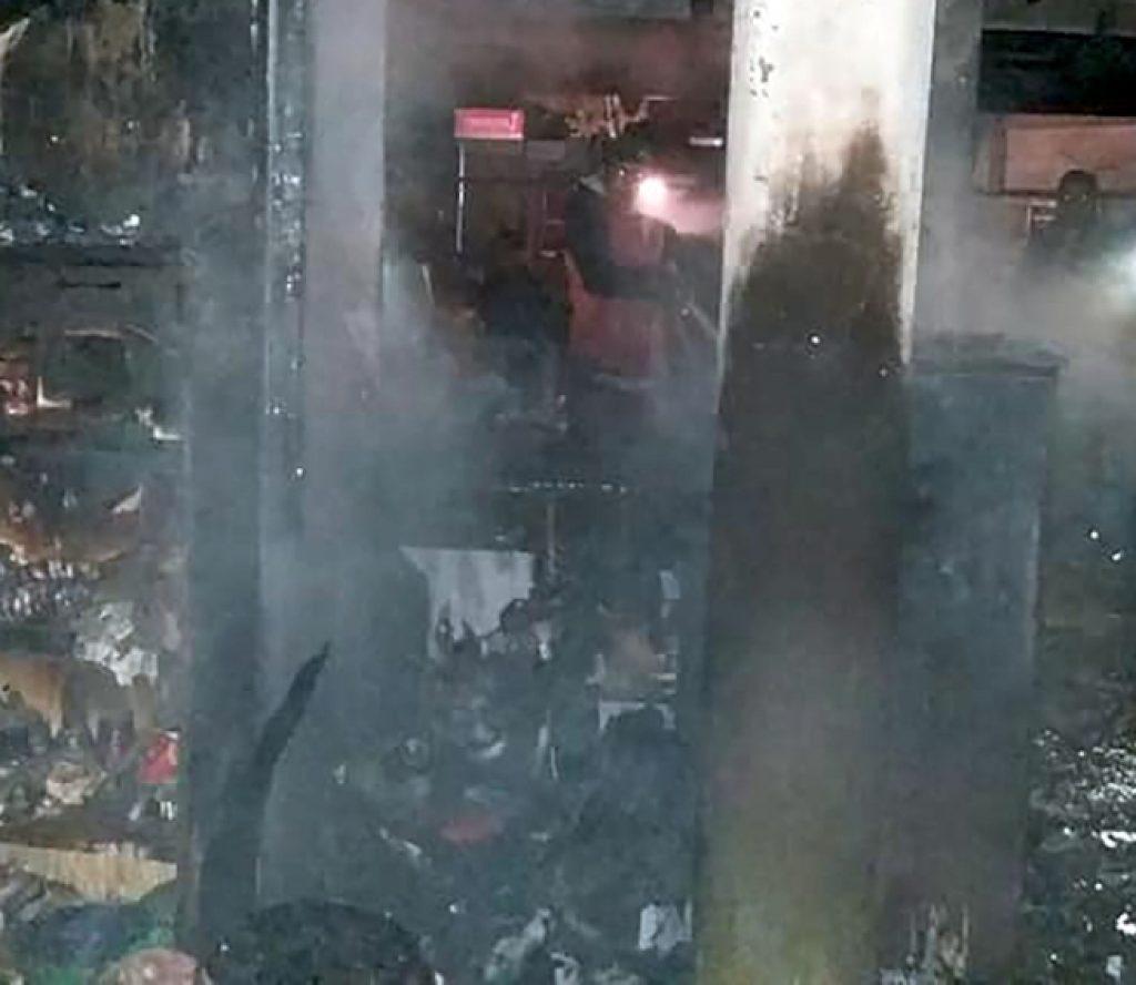 होटलमा आगलागी हुँदा चालीस लाख बराबरको क्षति