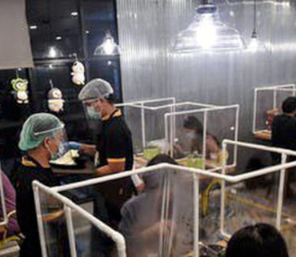 कोरोनाबाट जोगिन रेस्टुरेन्टमा प्लाष्टिकले छेक्ने व्यवस्था