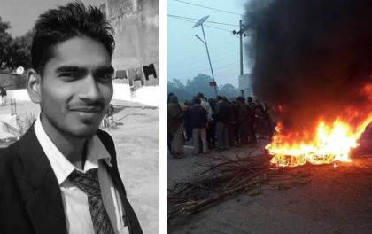 अवैध उत्खनन्को विरोध गर्दा टिपरले किचेर युवकको हत्या, स्थानीयद्वारा राजमार्ग अवरुद्ध