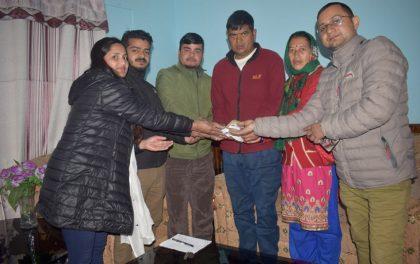 मृगौला पीडित लोकबहादुरलाई दक्षिण काेरियाका नेपालीबाट आर्थिक सहयोग