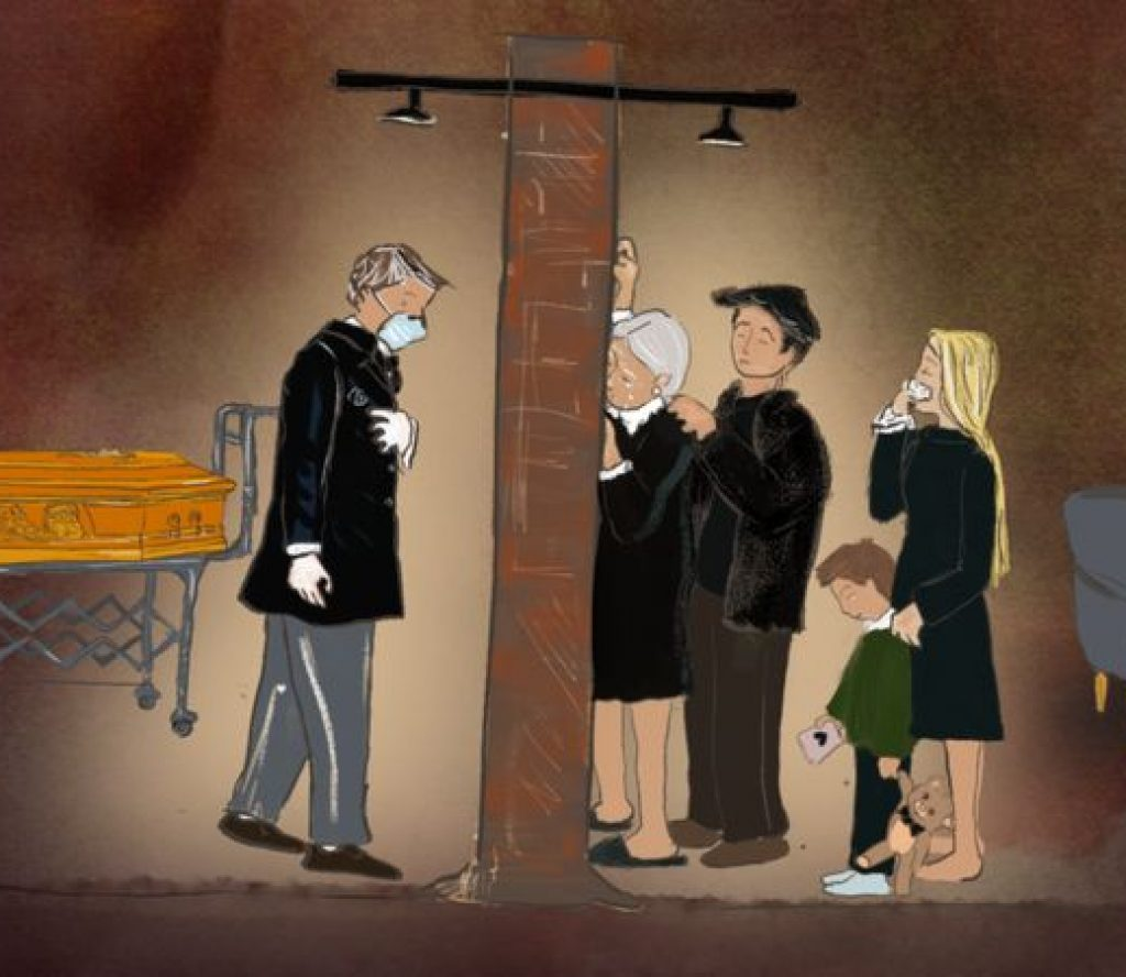 कोरोनाबाट ज्यान गुमाएकासँग परिवारलाई भेट्न प्रतिबन्ध, शव अस्पतालको गाउनमै गुपचुप गाडिदै