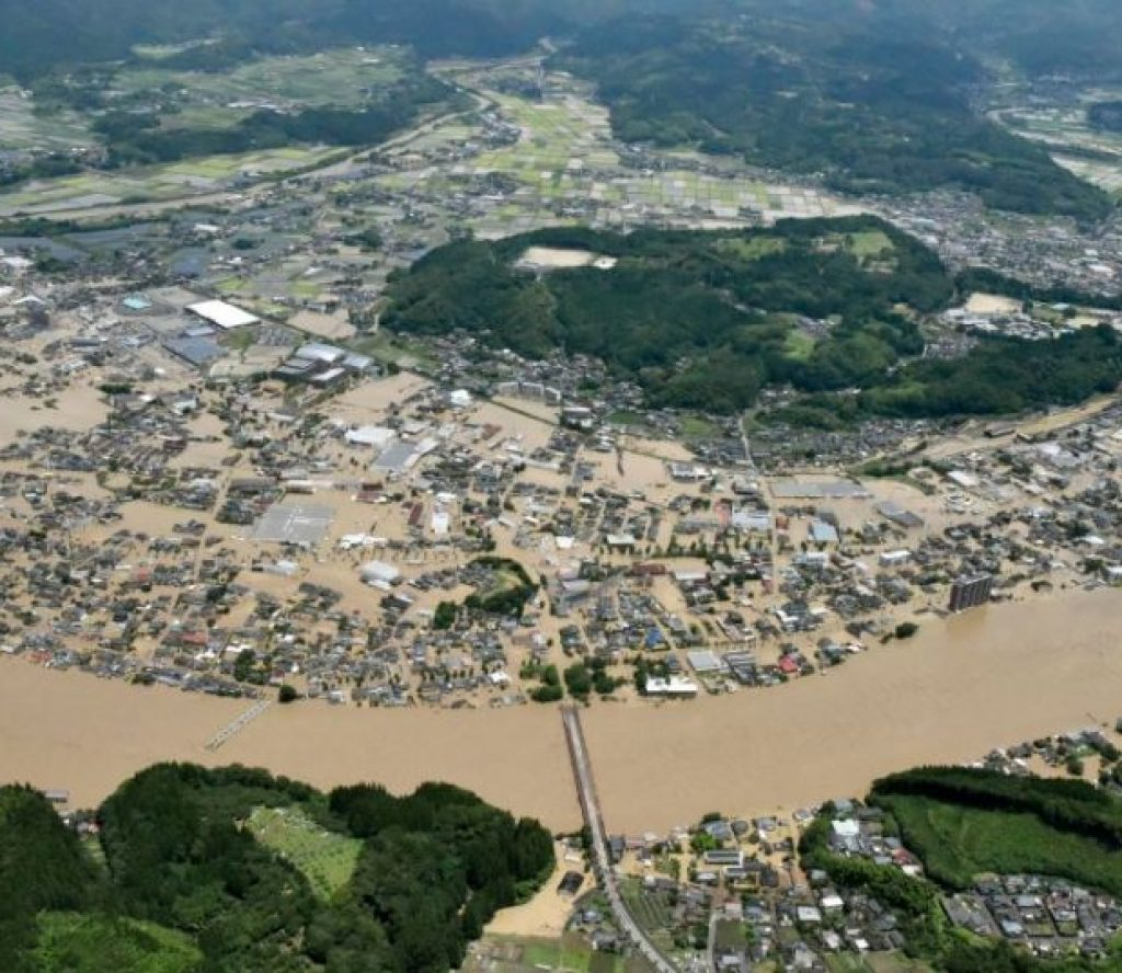 बाढीमा परेर जापानमा २० को मृत्यु, कैयौँ अस्पतालमा भर्ना