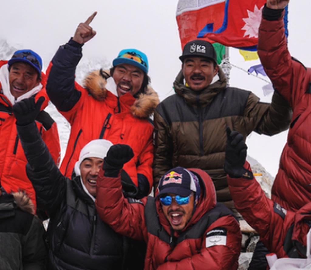 'केटू' हिमालको आरोहण गरी नयाँ रेकर्ड बनाएका १० नेपालीलाई काठमाडौँमा भव्य स्वागत