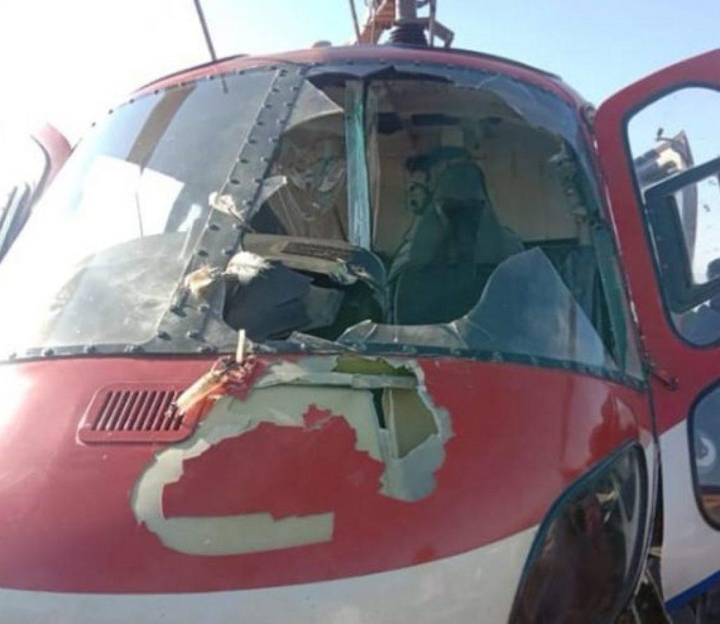 बागलुङबाट काठमाडौं आउँदै गरेको हेलिकप्टरमा चरा ठोक्कियो