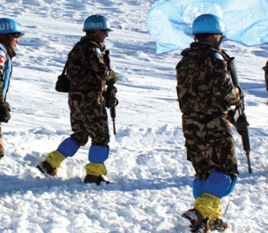 सिरियामा माइनस २० डिग्रीमा गस्ती गर्दै नेपाली सेना